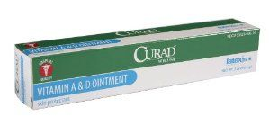 Medline CURAD A&D Ointment, 2 oz Tube by Medline. $13.36. A&D white petrolatum skin care ointment. CURAD A&D ointment is a white petrolatum and lanolin-based ointment that has vitamin A & D in it to help soothe, protect and moisturize the skin. Active: white petrolatum 93.5% Inactive: corn oil, light mineral oil, vitamin A, palmitate, and vitamin D Latex FreeSize: 5 grams/2 ouncesPacked 12 to a boxPriced in box quantity$9.95 Ground Shipping Only