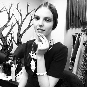 Behind the scenes of today's editorial shoot with @Allysa Hollywood @sher_beauty @mandy_macfadden