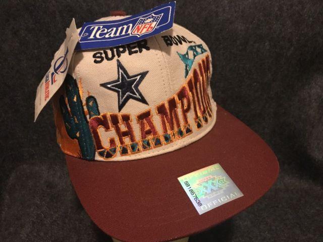 NWT Vintage 1995 Dallas Cowboys Super Bowl XXX Cap Hat Snap Back Logo 7 NFL | eBay