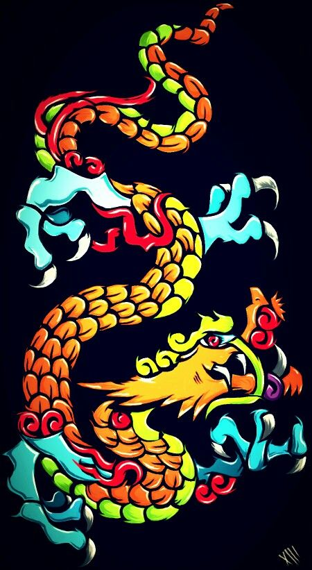 This took me two days to do. Chines e dragon