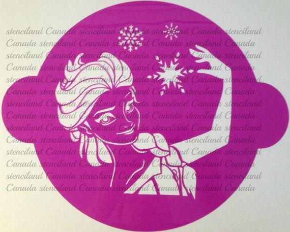 Cake Decorating Disney Characters : Princess cake stencil frozen cake decorating stencils ...