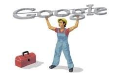 İnternet devi Google, emekçiyi unutmadı; logosunu işçilere ayırdı.