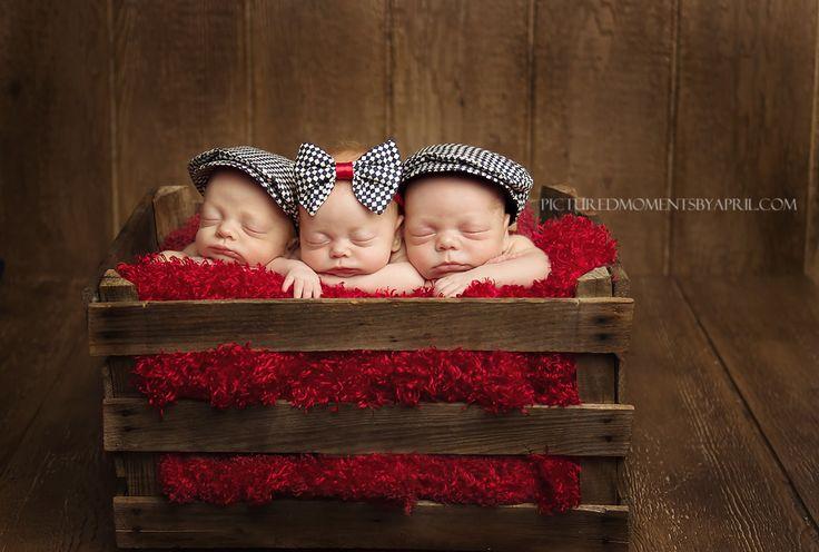 Triple Generosity!  Clarksville, TN Triplet Newborn Photographer