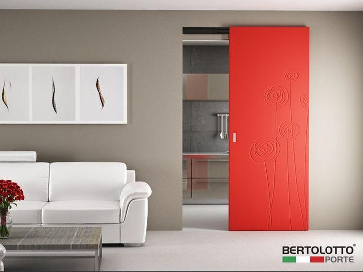 Lacquered sliding door NATURA - SOFFI by Bertolotto Porte design Katarina Cermakova