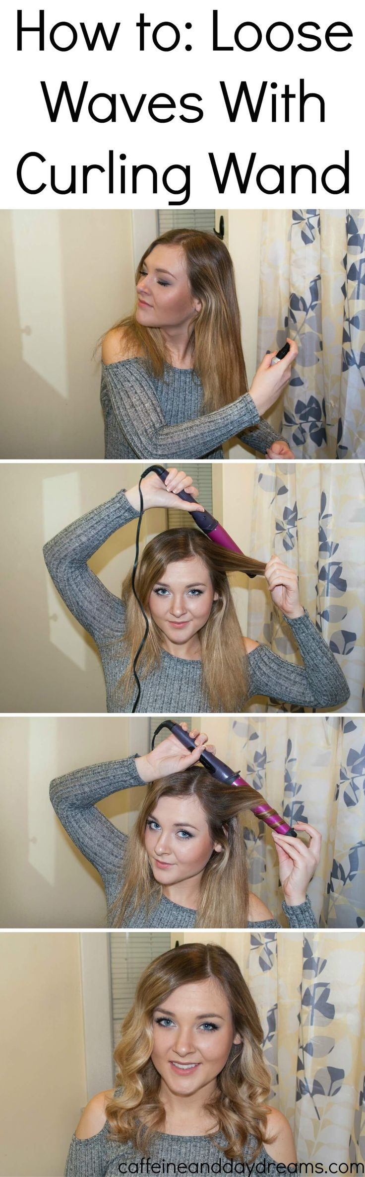 big loose waves with curling wand
