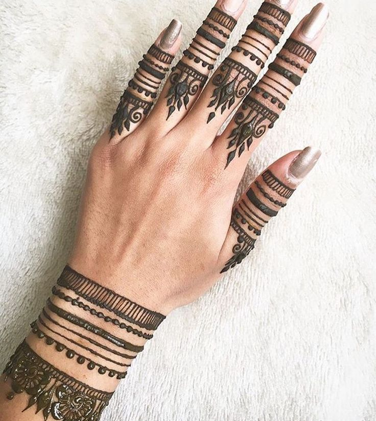 Pretty henna on fingers