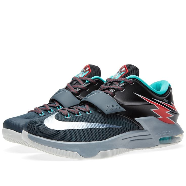 Nike KD VII 'Thunderbolt' (Classic Charcoal & Dove Grey) Article: 653996