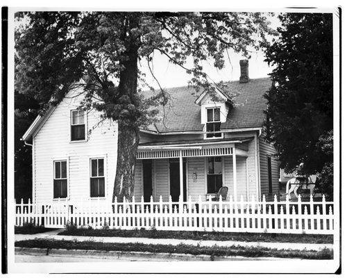 This black and white photograph shows Walter P. Chrysler's boyhood home in Ellis, Kansas.