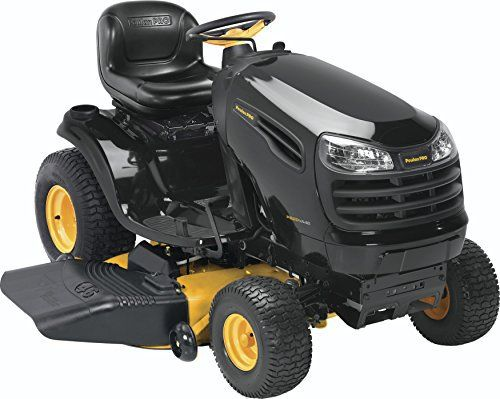 Product review for Poulan Pro 960420170 PB20VA46 Briggs 20 HP V-Twin Ready Start Pedal Control Fast Auto Drive Cutting Deck Riding Mower, 46-Inch. Poulan pro pb20va46 Briggs 20 HP v-twin ready start pedal control fast auto drive 46-inch cutting deck riding mower. Nothing works like a pro. The Poulan pro line of equipment are backed by a long heritage of innovation that began in 1944. This history is reflected in our line of powerful riding...