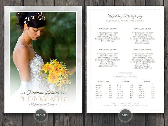 Wedding Photographer Pricing Guide by Cursive Q Designs on - wedding photographer resume