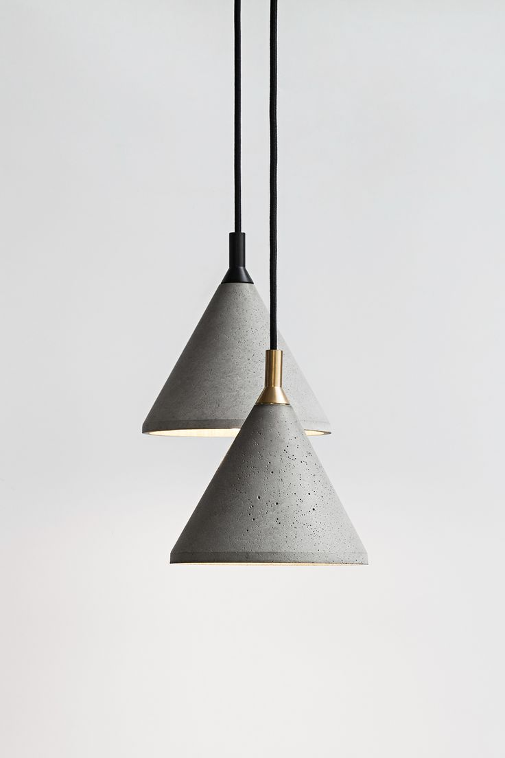 Zhong - The Concrete Pendant Lamp in mass production on Behance