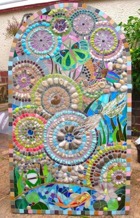 119 best images about mosaic garden paths on pinterest for Mosaic landscape design