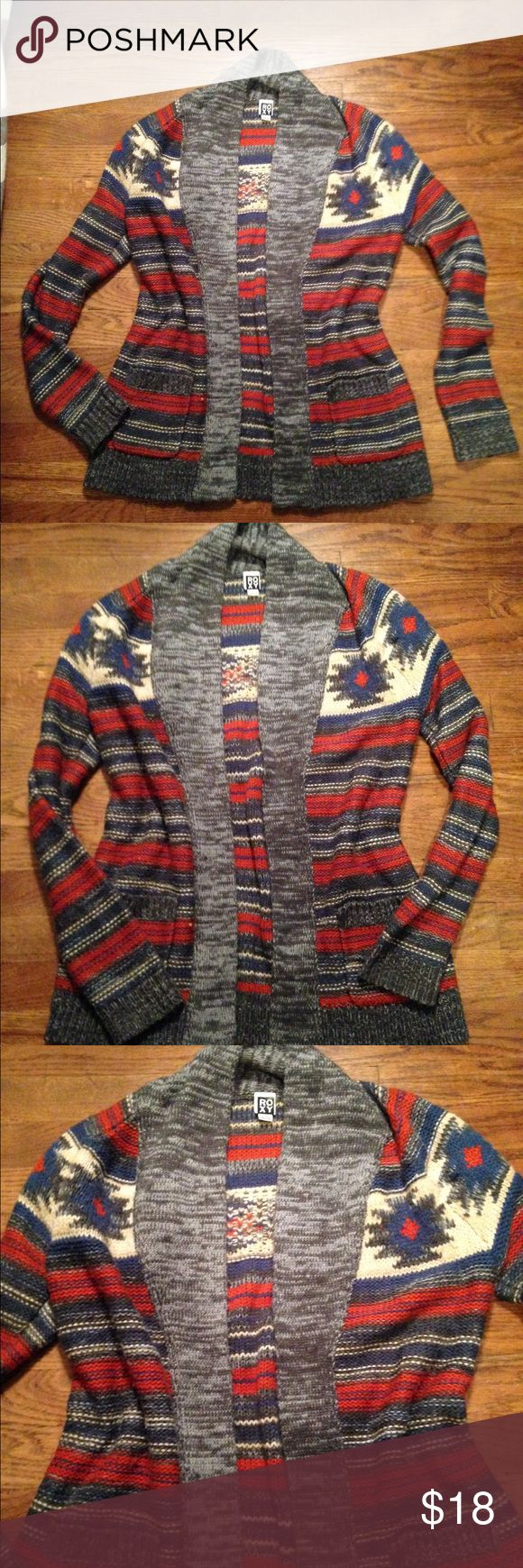 ROXY cardigan sweater ROXY cozy cardi sweater!  Beautiful colors... soft and cozy. In awesome condition! Roxy Sweaters Cardigans
