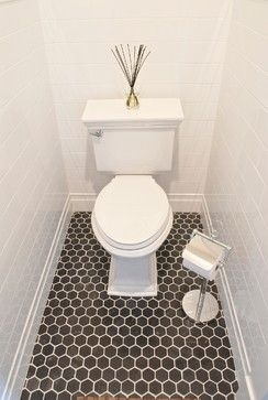 for BP   white subway tile & black honeycomb