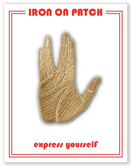 Vulcan Salute Patch Spock Hand Iron On Patch by thefoundretail