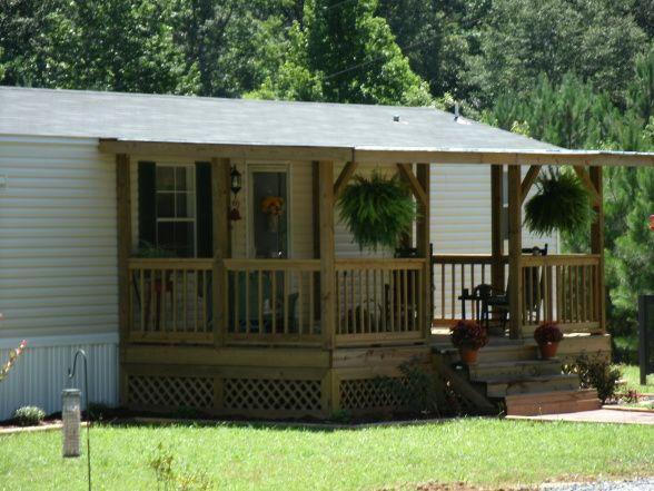 Front porch, Front porch added to mobile home, 10x20 front porch,$1500 for Material,2 weekends of work , Porches Design