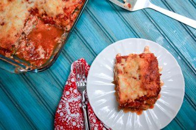 Noodleless Zucchini and Mushroom Lasagna! Tip: Maybe replace ricotta ...