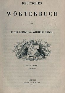 Deutsches Wörterbuch (English: The German Dictionary), abbreviated DWB--  is the largest & most comprehensive dictionary of the German language in existence.Encompassing modern High German vocabulary in use since 1450, it also includes loanwords adopted from other languages into German. Entries cover the etymology, meanings, attested forms, synonyms, usage peculiarities, and regional differences of words found throughout the German speaking world. The dictionary's historical linguistics