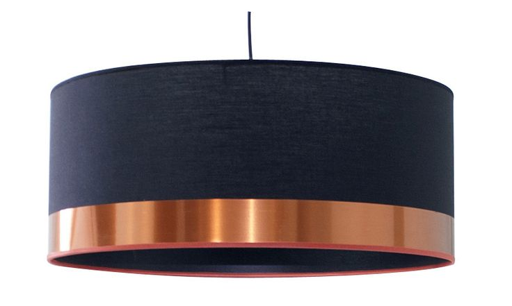Suspension Design Copper coton noir 1 x 60 W METROPOLIGHT #leroymerlin  #suspension #cuivre #copper #ideedeco #madecoamoi