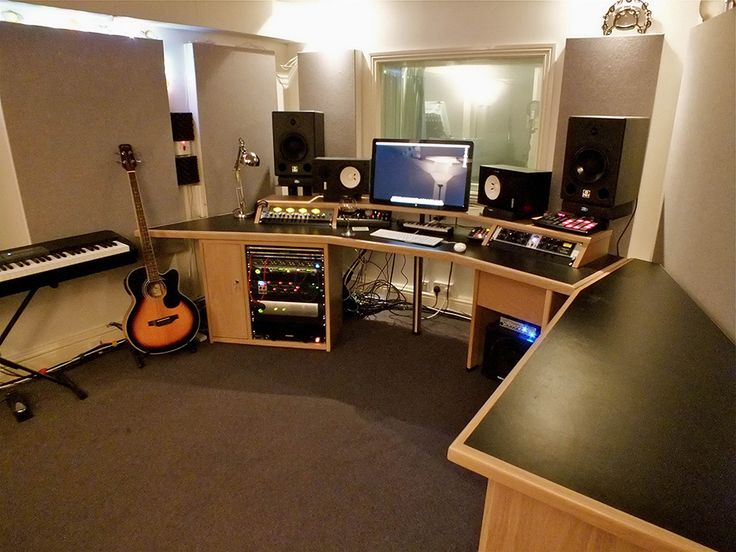 Recording studio desk ideas for Small studio furniture ideas