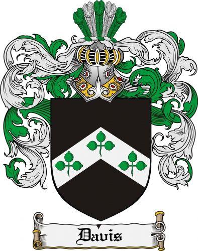 Davis Coat of Arms Davis Family Crest Instant Download