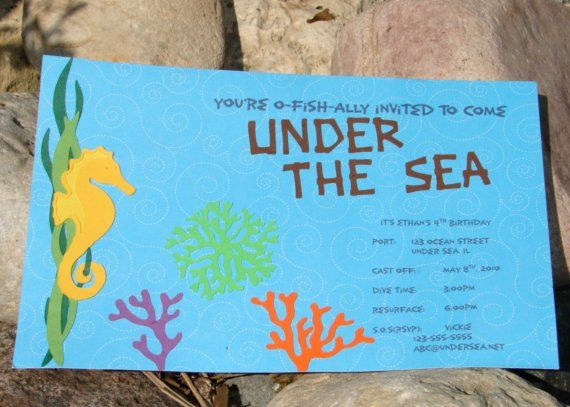 18 best Under the Sea Party Invitations images on Pinterest