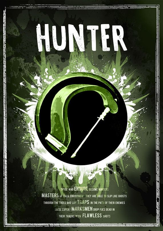World of Warcraft: Hunter Class Symbol print/poster by SodaArcade