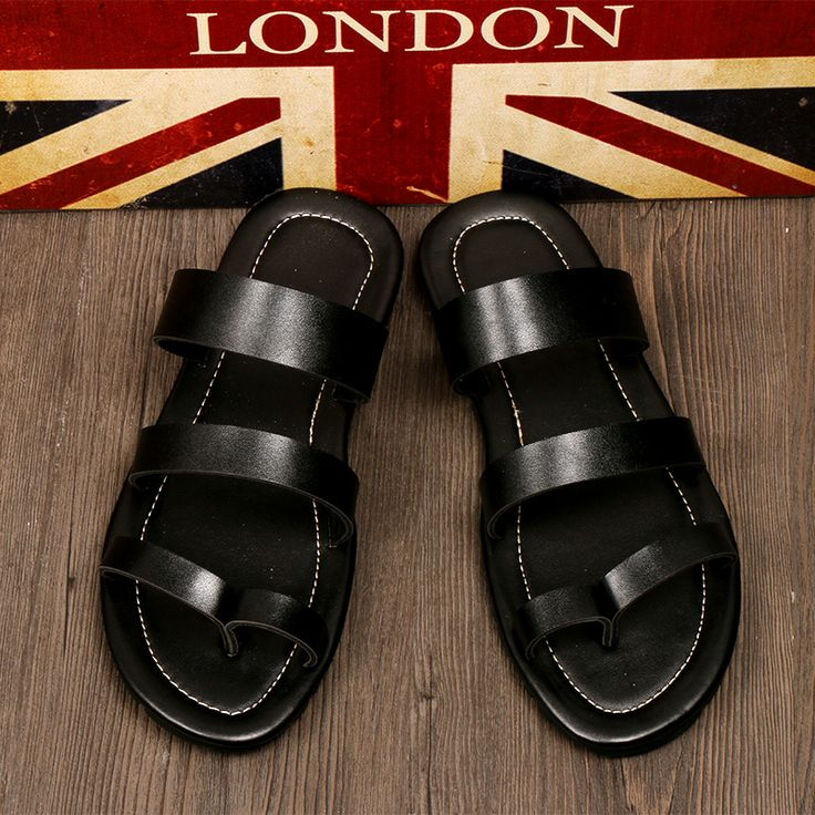 2014-new men's original home this spring and summer Sandals Sandals tide people's Congress loves men's Sandals black