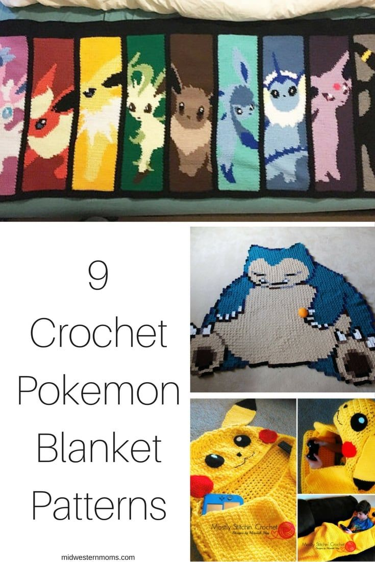 A collection of Crochet Pokemon Blanket Patterns. Everything from Pokeballs to Pikachu!