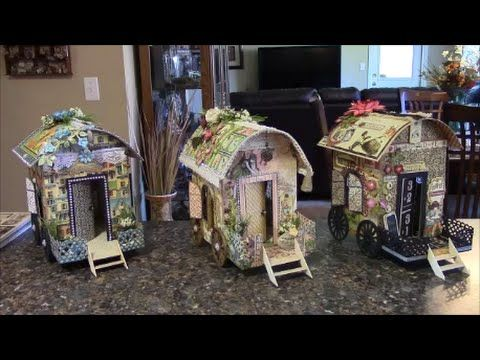 TUTORIAL - PART 1 GYPSY WAGON USING GRAPHIC 45 PAPER - DESIGNS BY SHELLIE - YouTube