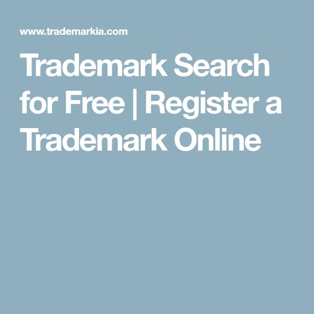 Trademark Search for Free | Register a Trademark Online