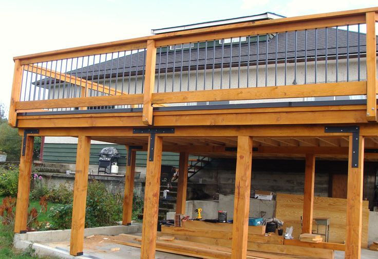 30 best carport with deck images on pinterest banister for Carport deck combination