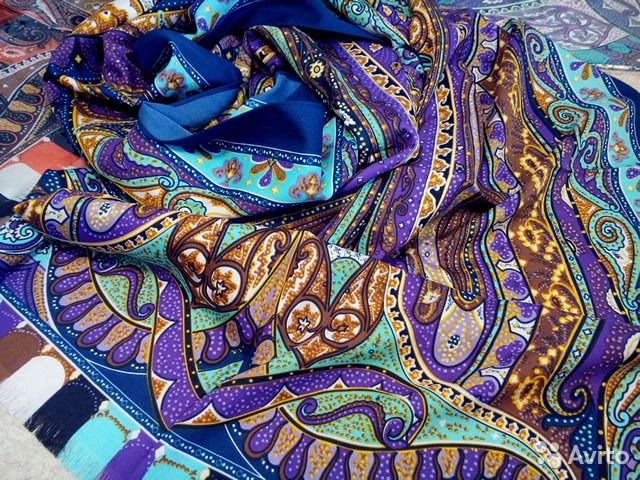 Шелковый палантин Etro, 60/170, 6цвета— фотография №3