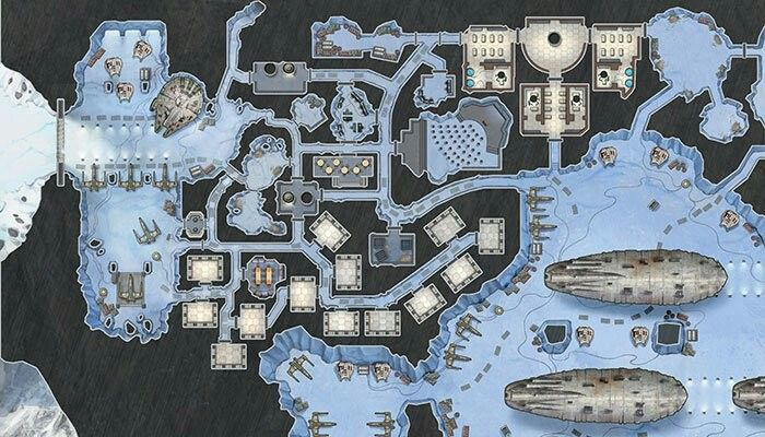 Cool map of Echo Base on Hoth | Star Wars Art Inspiration ...