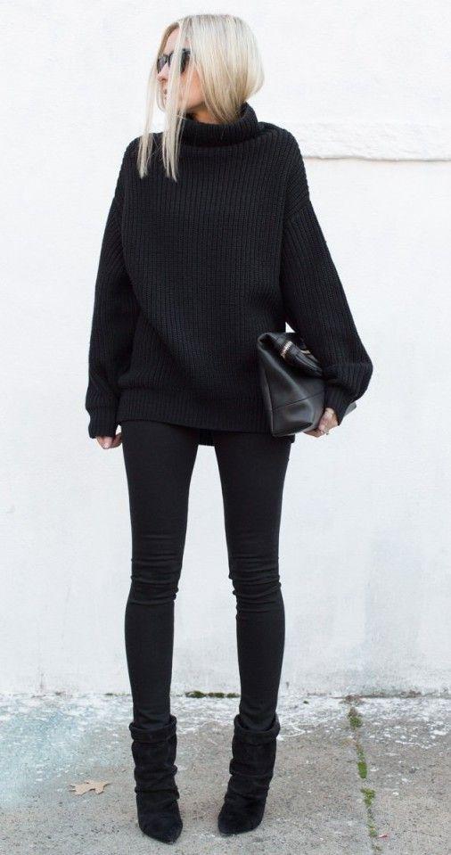 black on black fall style