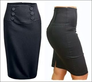 El Rincon De Celestecielo: Patrones de vestido ajustado con efecto levantacola y falda pretina anatómica alta