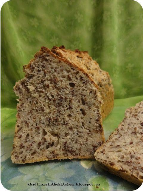 PAIN DE LA SEMAINE: PAIN AUX GRAINES DE LIN (prêt en une heure) / BREAD OF THE WEEK: FLAXSEED BREAD (ready in one hour) / PAN DE LA SEMANA: PAN CON SEMILLAS DE LINO (listo en una hora)/( خبز الاسبوع: خبز بذور الكتان (جاهز خلال ساعة من الزمن