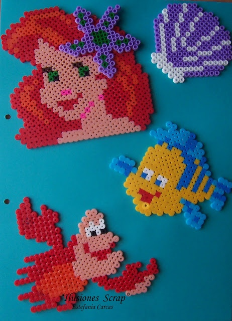 The Little Mermaid Disney characters perler/ hama beads