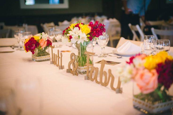 arreglos coloridos y corporeo nombres para boda