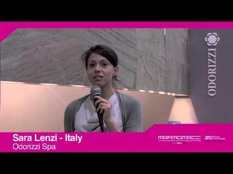 Marmomacc 2012: Sara Lenzi interview (Odorizzi spa, Italy)