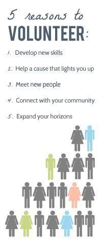 Vijf goede redenen om vrijwilliger te zijn of te worden!