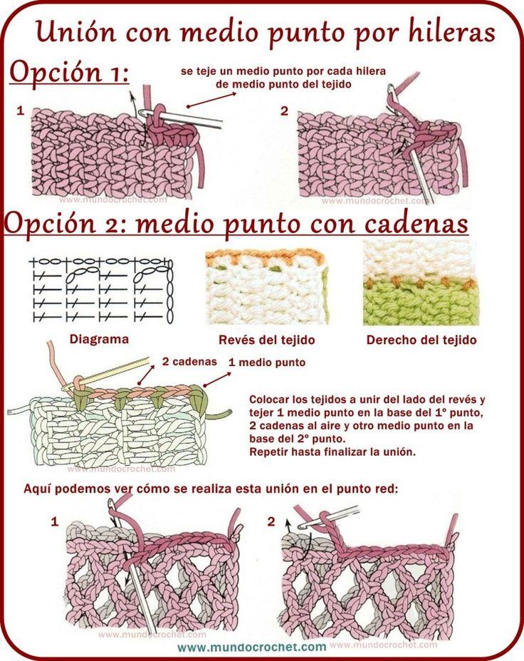 Como realizar uniones en crochet o ganchillo