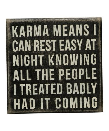 Love this 'Karma Means' Wall Sign on #zulily! #zulilyfinds