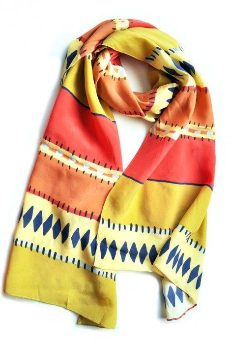 Tribal striped scarf