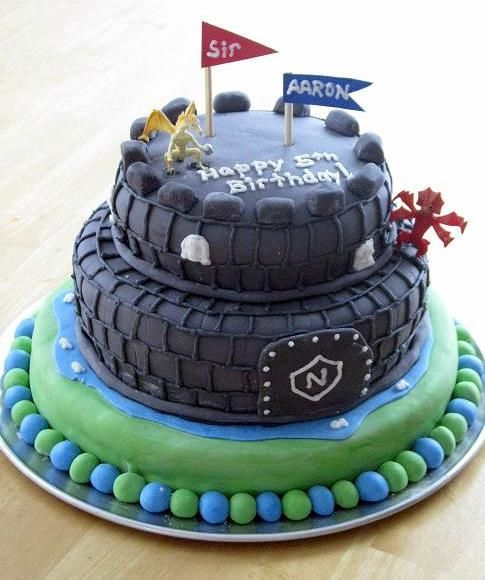 Great ideas for a dragon/castle/knight-themed party!