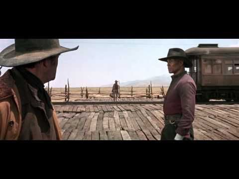 """Sergio Leon's Once Upon a Time in the West movie scene where rail, steam and a gunfight come together...Charles Bronson """"...You Brought Two Too Many"""" - YouTube"""