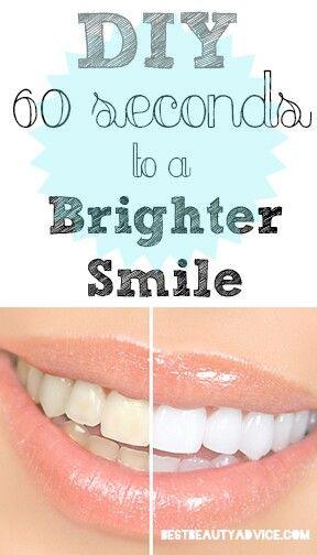 Whiten you teeth fast......