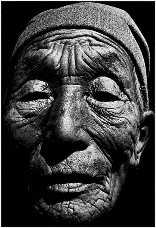 "101 year-old Mongolian woman who had lived through 19 life-killing droughts. Click through to see more amazing ""faces of age""."
