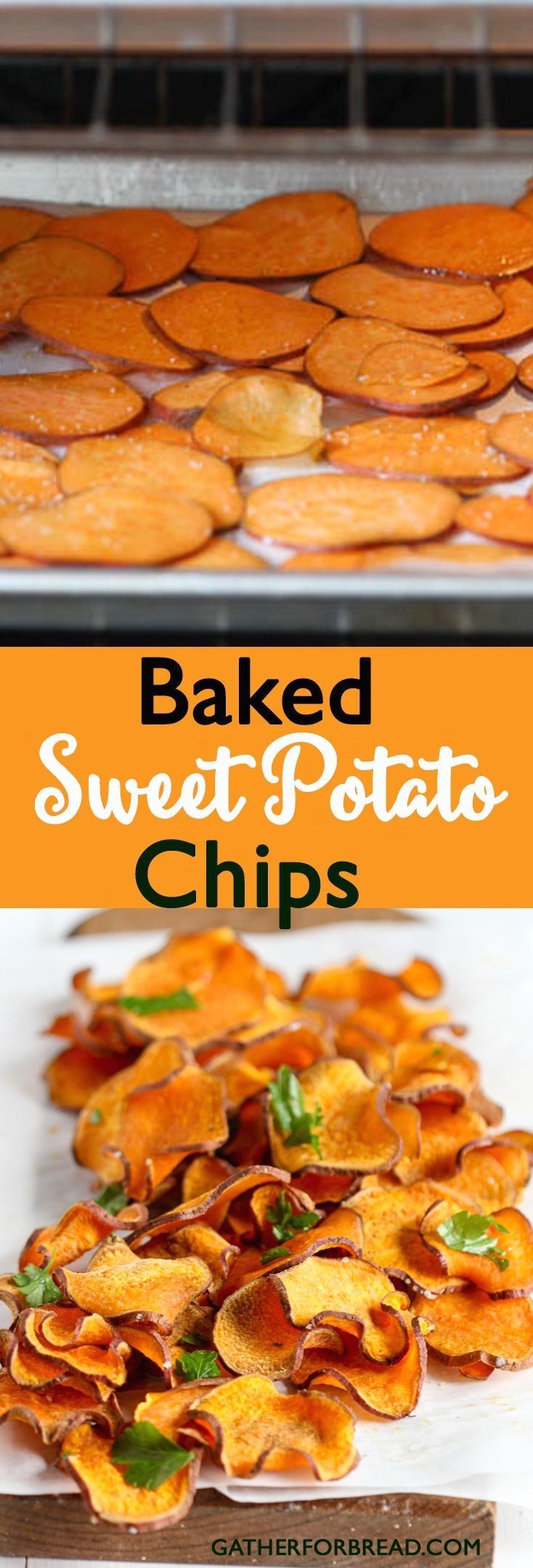 Baked Sweet Potato Chips - Gluten Free Paleo Whole 30 Healthy - These tasty chips will satisfy your snack cravings. So good you'll want them all the time!