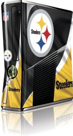 Skinit Pittsburgh Steelers Vinyl Skin for Microsoft Xbox 360 Slim (2010)  $29.99 Amazing Discounts Your #1 Source for Video Games, Consoles & Accessories! Multicitygames.com Click On Pins For More Info